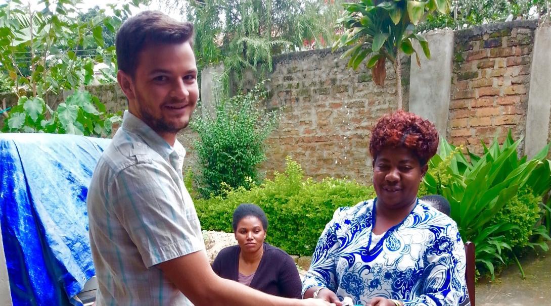Jake J in Tanzania